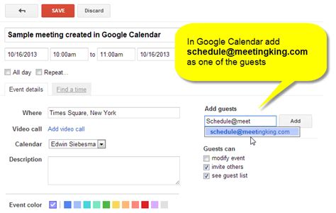 How To Calendar Create A Meeting Directly From Outlook Ical