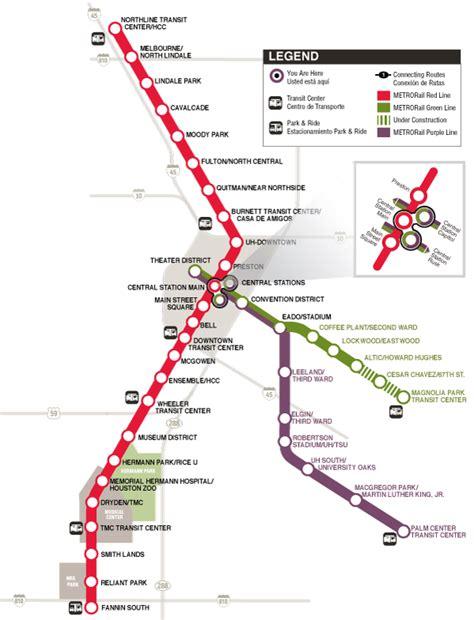 houston map with metro rail houston 171 transportblog co nz