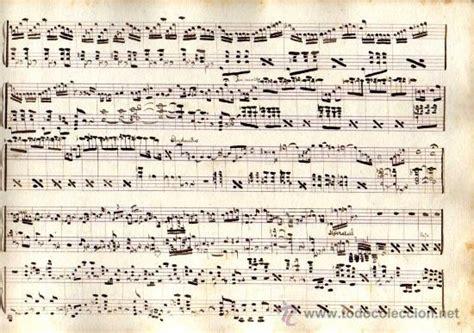 imagenes partituras antiguas antigua partitura manuscrita el rey que rabi 243 comprar