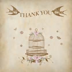 vintage birdcage thank you cards