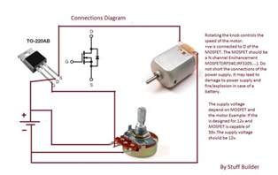 how to build the simplest dc motor speed controller using potentiometer and mosfet updated