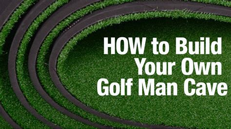 how to build a golf green in your backyard how to build your own golf man cave so you can break 80