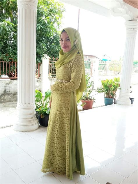 Wedding Dress Muslimah Simple wedding dress muslimah simple gown green lace