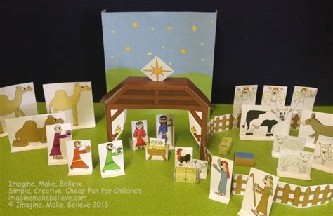 printable paper nativity scene free play with paper archives imagine make believe