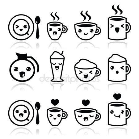 imagenes blanco y negro kawaii vectores de stock de kawaii ilustraciones de kawaii sin