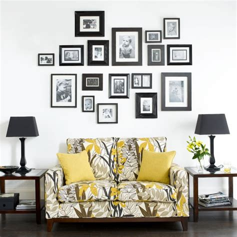 living room with family photo wall living rooms design ideas housetohome co uk