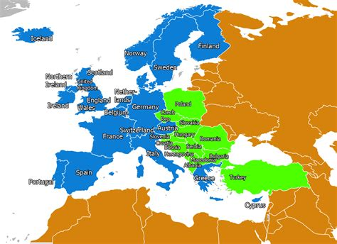 map of west europe with cities the west was made up of the western alliance countries of