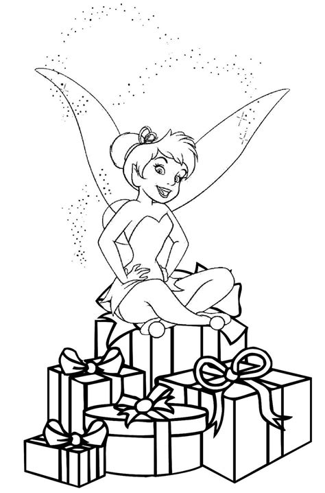 christmas fairy coloring page free printable tinkerbell coloring pages for kids