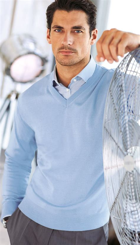 light blue sweater mens blue on blue smart casual petkove pins