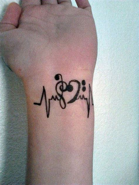 music heart tattoo 52 tattoos on wrist