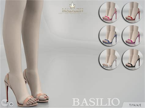 Highheels Black P24 madlen basilio shoes by mj95 at tsr 187 sims 4 updates