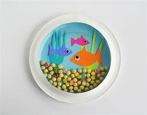Paper Crafts For Teenagers - diy fish tank crafts for children on aquarium
