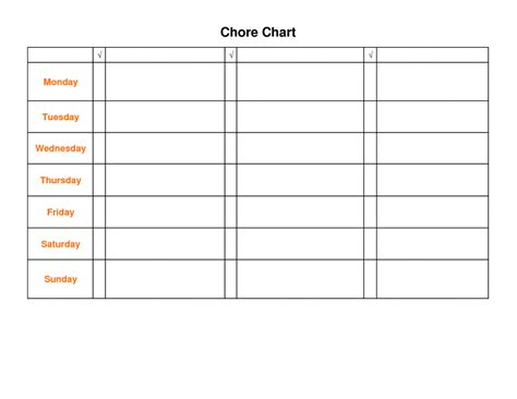 Blank Chart Templates Daily Schedule Template Free Doc 17 Psd 16501275 Charts Best Photos Mughals Chart Template