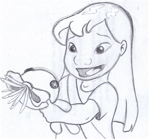 disney sketch quot this is scrump quot lilo and stitch art by