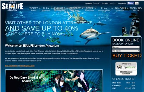 printable vouchers london sea life london aquarium voucher codes discount codes