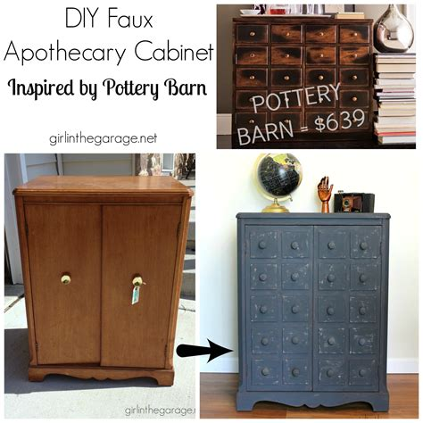 pottery barn inspired furniture faux apothecary cabinet pottery barn inspired makeover