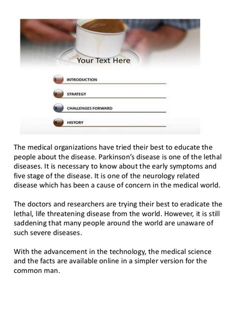 Et Online Parkinson S Disease Powerpoint Template And Background Parkinson S Disease Powerpoint Template