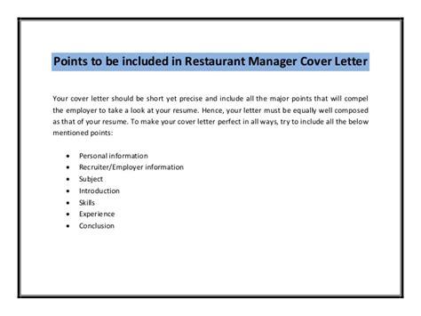 Experience Letter Restaurant Manager restaurant manager cover letter sle pdf