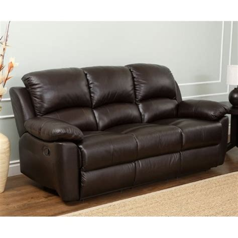 top grain leather recliner sofa abbyson western top grain leather reclining sofa brown