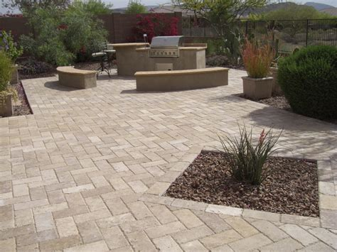 Paver Ideas For Patio Backyard Living Paver Patios Landscaping Peoria Az Desert Crest Llc