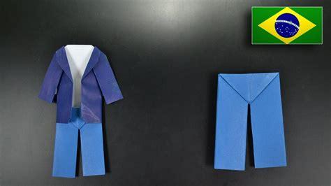 How To Make Origami Trousers - origami cal 231 a instru 231 245 es em portugu 234 s br