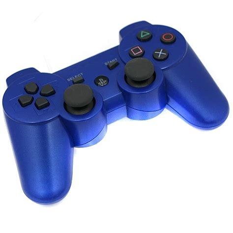Blue Ps3 8 manette sans fil compatible playstation 3 ps3 bleu cheapatleast