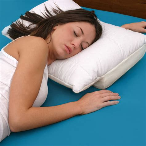 Side Stomach Sleeper by Better Sleep Pillow Velour Cover Tempur Neck