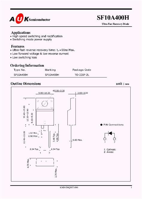 Sf10a400h sf10a400h 4779768 pdf datasheet ic on line