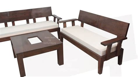 Sofa Set Made Of Wood by Stylish Looking Wooden Sofa Set For Your Living Room