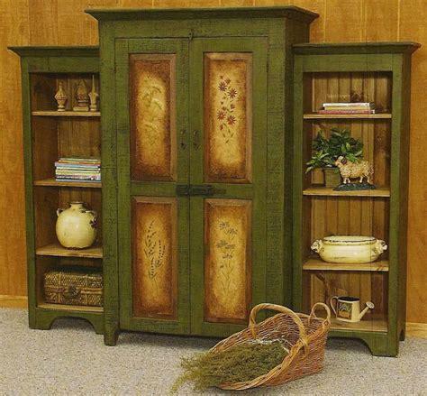 painted armoire furniture amish rustic wheelbarrow 398