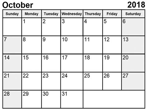 october 2018 calendar october 2018 calendar printable free site provides all