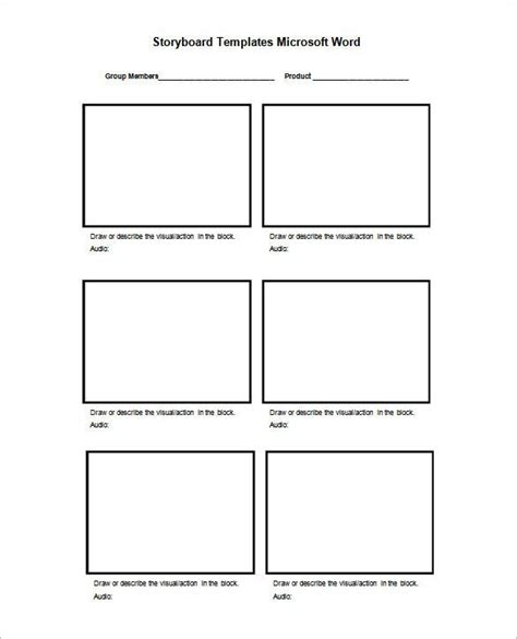 1000 ideas about storyboard template on pinterest