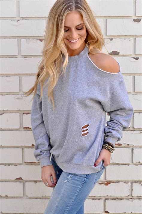 Cold Shoulder Sweatshirt foggy morning sweatshirt fall fashion n jewelry