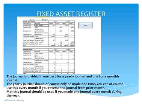 fixed asset register instruction of excel template fixed