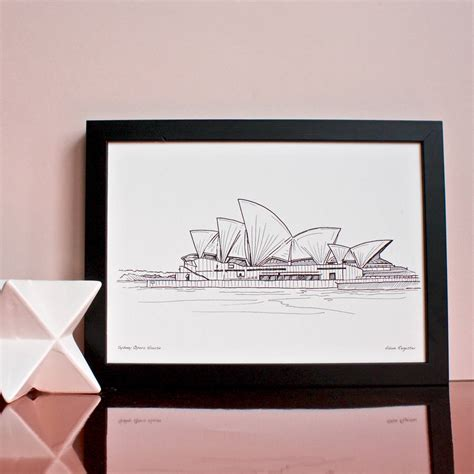 sydney opera house original design sydney opera house print by adam regester design notonthehighstreet com
