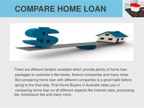 compare housing loans ppt fhba first home loan help powerpoint presentation id 7422070