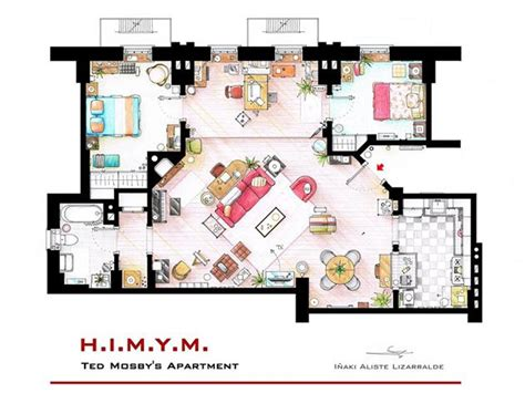 tv floor plan famous television show home floor plans hiconsumption