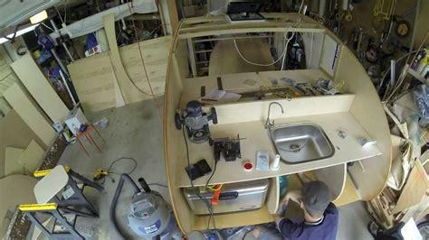 gidget retro cer denizen teardrop trailer build galley part 1 youtube