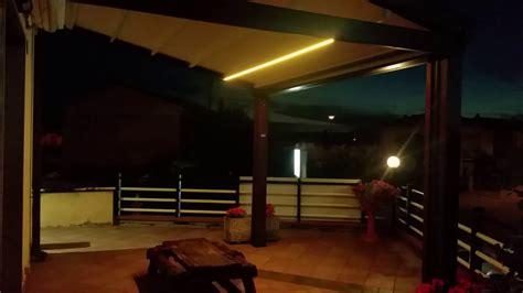 pergolato con tenda pergolato con tenda scorrevole con illuminazione