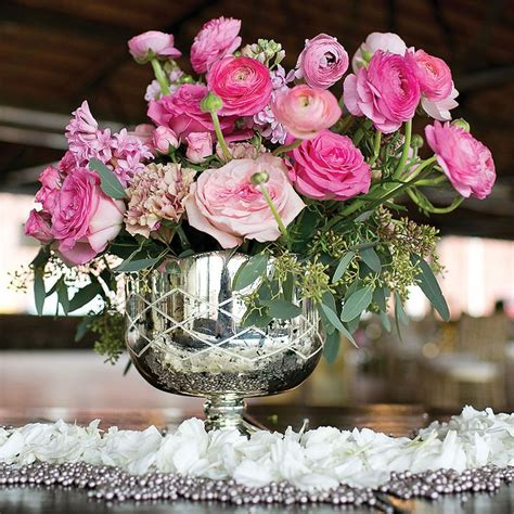 Vases For Centerpieces For Weddings Silver Mercury Bowl Wedding Centerpieces Silver