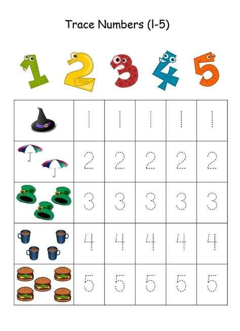 printable numbers 1 5 numbers 1 5 traceable learning printable