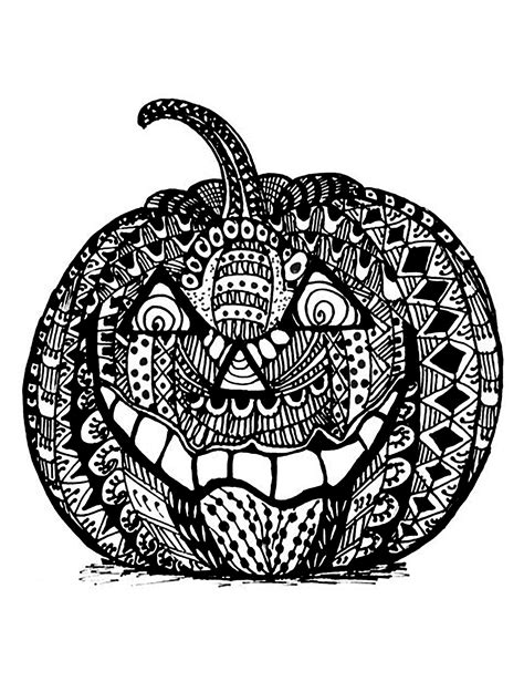 pumpkin coloring page for adults halloween zentangle pumpkin halloween coloring pages