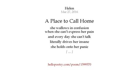 a place to call home by helen hello poetry