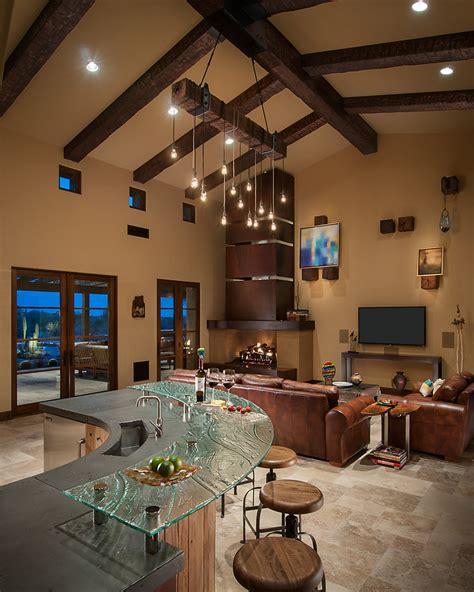 rustic luxury kitchen interiors  color