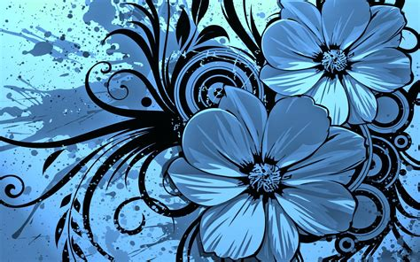 wallpaper flower graphic blue images blue wallpaper photos 24018779