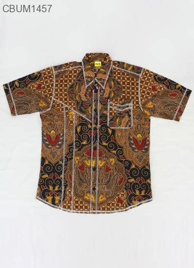 Kemeja Anak Batik Garut Motif Kawung Kuning hem anak blarak motif kawung size 15 kemeja murah batikunik