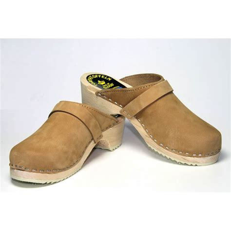 clogs for swedish swedish clogs genuine sand nubuck