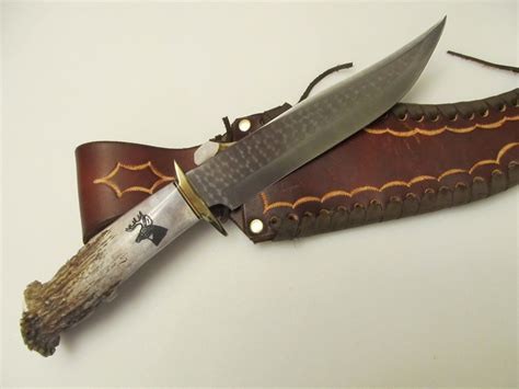 antler handle knife ken richardson 8 bowie stag horn antler handle knife