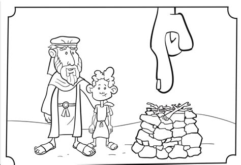 elijah altar coloring page coloring pages