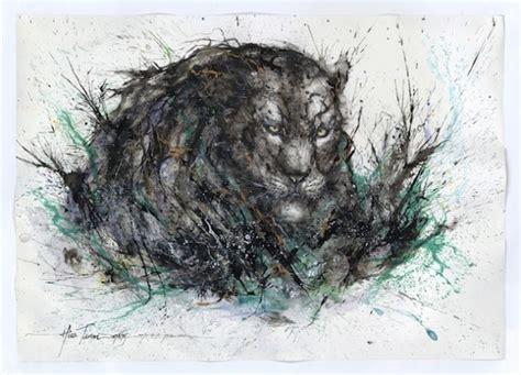 artist creates powerful splatter paint portraits